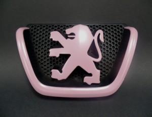Peugeot Emblem pastellviolett glänzend