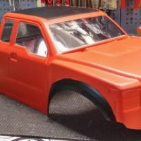 Karosserie lackieren – feuerrot & schwarz matt