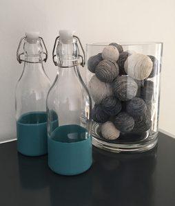 Glasflasche designen