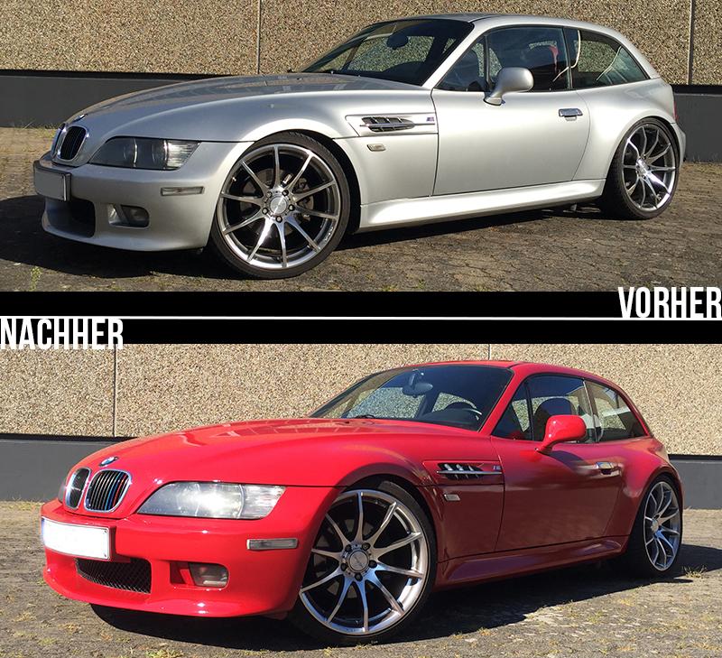 Vorher/Nachher Vergleich BMW Z3