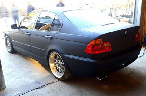 BMW mit Klarlack matt