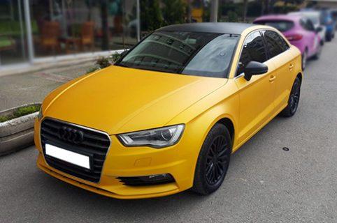 Audi A4 mit Klarlack matt