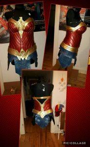 Fertige Wonder Woman Corsage mit mibenco