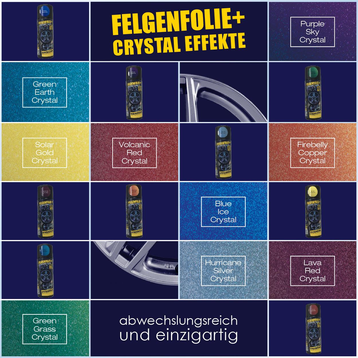 FELGENFOLIE+ Crystal Effekt Sprühfolie